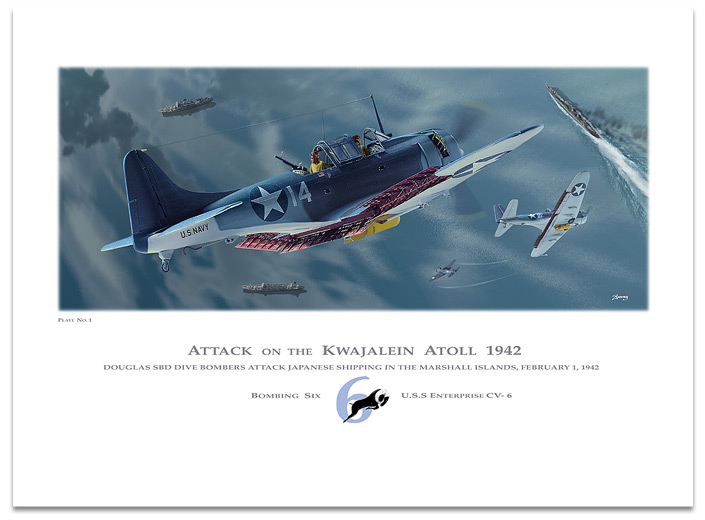 Attack On The Kwajalein Atoll 1942 --Plate 1-- by Dan Zoernig