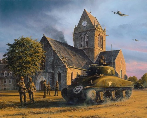 Liberation - Sainte Mere Eglise, June 1944 by Richard Taylor